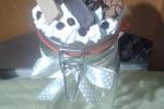 Barattoli decorati con biscottini di polvere di ceramica