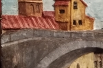 Bassorilievo gesso patinato, Roma sparita