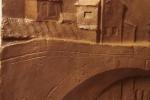 Bassorilievo in gesso patinato Roma sparita, colore grezzo