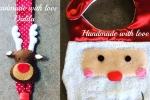 Bavaglino Babbo Natale + Portaciuccio