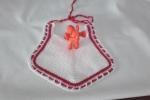 Bavaglino cotone nei colori bianco e rosso