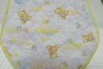 Bavaglino in tessuto di cotone trapuntato