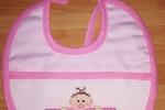 Bavaglino neonata con bimba e nome