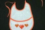 Bavetta Bavaglino bebè neonato con fantasia punto croce