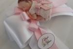 Bebè fimo bimba rosa e bianco