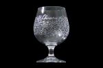 Bicchiere personalizzato inciso a mano