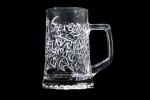 Bicchiere personalizzato inciso a mano decorazione tribal