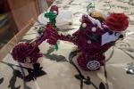 Bicicletta porta cioccolatini con cannucce