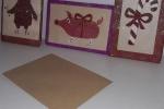 Biglietti di auguri di Buon Natale in legno