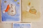 Biglietti augurali natale dipinti a mano in acquarello