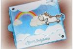 Biglietto auguri slider unicorno