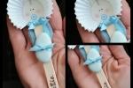 Bomboniera - Bebè su stecco gelato con nome