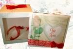 Bomboniera con scatola e biglietto personalizzato