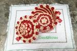 Cofanetto realizzato in quilling, rosso e avorio