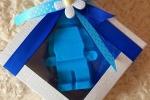 Bomboniera per ogni evento lego nastro blu