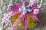 Bomboniera per ogni evento nastro ricamato rosa