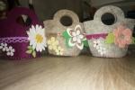 Bomboniera / segnaposto borsetta porta confetti in fommy