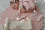 Bomboniere battesimo neonata con farfalle