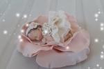 Bomboniere battesimo bebè fimo su fiore rosa