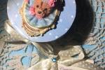 Bomboniere Piccola scatola portagioie decorata a mano