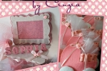 Bomboniere battesimo in feltro e pannolenci rosa