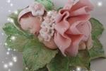 Bomboniere Battesimo vestitino rosa con corpetto fiorellini