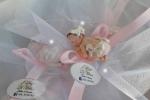 Bomboniere bebè fimo bimba su tulle in mutandine rosa
