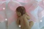 Sacchettino Bomboniere bebé pasta di porcellana