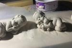 Bomboniere Bebé in gesso o porcellana fredda