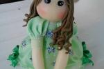 Bomboniere comunione bambolina verde
