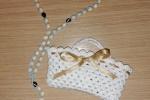 Bomboniere Rosario e porta rosario fatte ad uncinetto