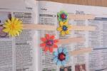 Bomboniere nascita segnalibro con fiori