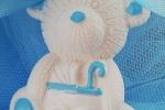 Bomboniere nascita orsetto in gesso