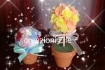 Bomboniera vasetto con fiori