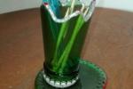 Porta palettine e stuzzicadenti creata da bottiglia nastro