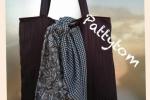 Borsa Artigianale marrone e abbellita con un foulard in tinta