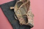 Borsa denim&cotone by Apecuce tessuto a fantasia floreale