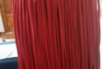 Borsa donna, con frange colore rosso crawnberry
