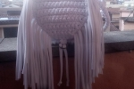 Borsa donna a spalla in lycra, colore bianco