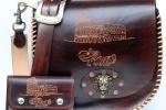 Borsa e portafoglio donna vero cuoio con incisione a mano