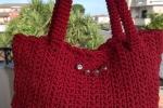 Borsa handmade in cordino rossa