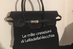 Borsa handmade con pattina, base e manici in pelle