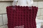 Borsa handmade lavorata a crochet con cordino