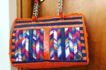 Borsa in raffia multicolor