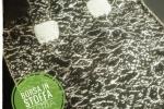 Borsa in stoffa fatta a mano colore bianco/nera