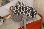 Borsa modello Saddle bag cordino Swan grigio perla