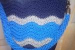 Borsa modello secchiello toni del blu