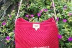 Borsa rossa handmade in cordino
