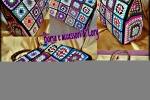 Borse di lory quadrati all'uncinetto multicolor