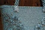 Borse donna handmade grigia foderata con taschino interno